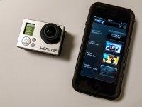 Kamera sportowa i smartfon